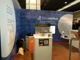 Stackoverflow's booth QR code
